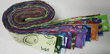 "50-1.5"" MIXED colors, BATIK strips, honey bun, quilt, cotton fabric-grab bag"