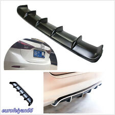 "Autos Matte Black 36.6""X5"" Rear Shark Fin Style Curved Addon Bumper Lip Diffuser"