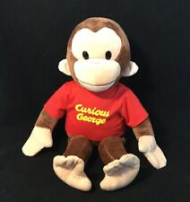 """Applause Curious George Large Classic Plush - Suffed George Moneky Red Shirt 16"""""""