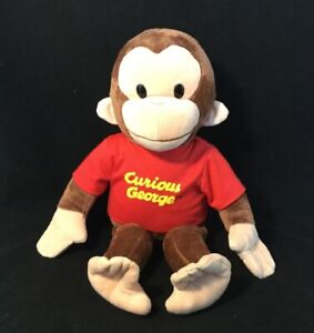 Applause Curious George Large Classic Plush - Suffed George Moneky Red Shirt 16""
