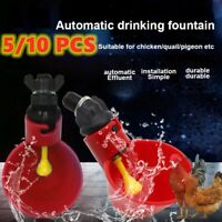 5/10 PCS Automatic Cups Water Feeder Drinker Chicken Waterer Poultry Chook Bird'