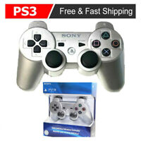 Silver PS3 DualShock 3 Official PlayStation Wireless SixAxis Controller GamePad