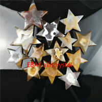 Natural crystal Carved Agate Stars quartz geode Gemstone healing Gift 1pc 100g+