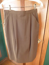 Women's TOTOnKO Brown Lined Skirt Size 12