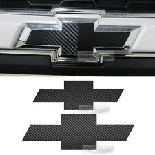 Front Rear Carbon Emblem Badge Decal Sticker For CHEVROLET 2011-2017 Sonic 5Dr