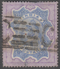 INDIA QV 5 Rs WITH RARE MACHINE Pmk 'C' SG 109 CAT £ 50