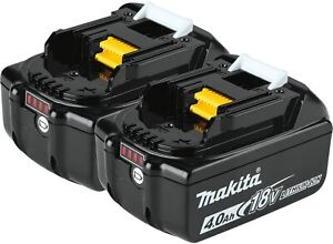 2Pc Makita BL1840B-2 18V Volt LXT Lithium Ion Battery Packs 4.0 AH BL1840 FUEL