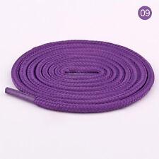 Purple Women Men Rope Waxed Round Cord Dress Shoe Laces Colourful Shoelace 1M