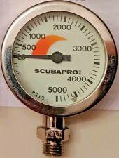 SCUBAPRO Metal Pressure Gauge, Imperial PSI, 28.013.902, Scuba 5000psi SPG