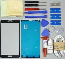 Samsung Galaxy Note 4 Front Glass Screen Replacement Repair Kit BLACK