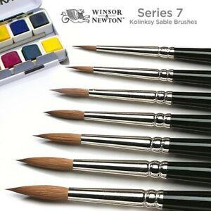 Winsor & Newton Series 7 Kolinsky Sable Artists Quality Watercolour Brush Size 1