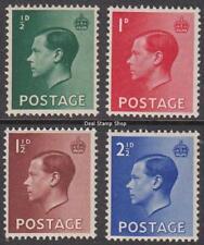 Gb 1936 Edward Viii Definitive Set of 4 Sg457 - 460 Unmounted Mint
