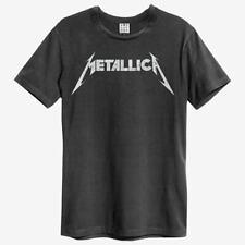 Amplified Metallica Logo T-Shirt - Herren Band Shirt - charcoal  ( S - XXL )