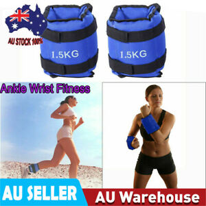 3KG Adjustable Ankle Wrist Weight Fitness Sports Gym Exercise Equipment AU