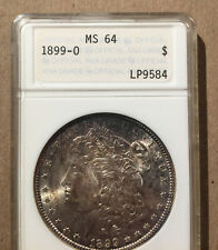USA 1899 O One Dollar ANA Blue Text Label MS 64 - Morgan Silver - Old ANA Holder