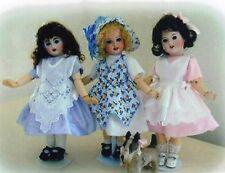 """Pinafore dress bonnet Pattern fits10"""" Dolls  Bleuette Patsy Ann Estelle"""