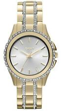 DKNY Silver Dial Gold-tone Stainless Steel Ladies Watch NY8699