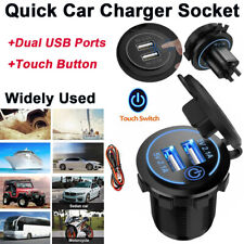 Dual USB Socket Quick Car Charger With Touch Switch Adapter 5V 4.2A for Marine
