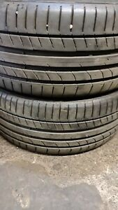 X2 Matching Pair Of 225/40/18 Continental Contact Sport 5 92Y Extra Load Tyres