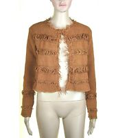 Cardigan Aperto Donna Maglia Pullover KAOS Made in Italy I761 Marrone Tg S M