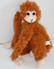 "Orange Brown Tan Plush Proud Toy MONKEY 10"" Soft Stuffed Animal Small Fty Zhuhai"