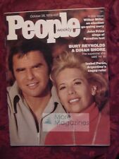 PEOPLE October 28 1974 BURT REYNOLDS DINAH SHORE Jim Plunkett John Prine +++
