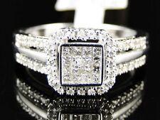 10K White Gold Ladies Womens Engagement Princess Diamond Wedding Band Ring .25Ct