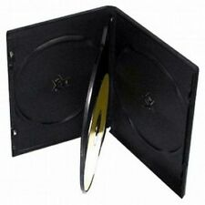 100 STANDARD Black Quad 4 Disc DVD Cases