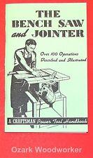 CRAFTSMAN Table Saw & Jointer Handbook Operators Manual 0793