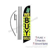 We Buy Gold 15' Feather Banner Swooper Flag Kit with pole+spike