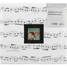 MBI MUSIC NOTES 12x12 Scrapbook Album w/Photo Frame +Add FREE SHIP Bonus Items