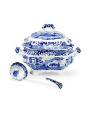 Spode Blue Italian Soup Tureen and Ladle Brand New