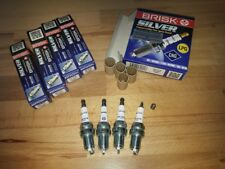 4x Bmw 118i E87 2.0i y2004-2012 = Brisk YS Silver Electrode Upgrade Spark Plugs