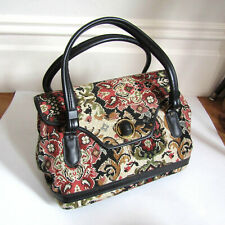 Vintage 50s Carpet Purse for Rockabilly Day Dress or Evening Bag Tapestry 1950s