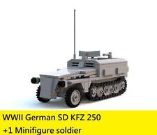 WW2 WWII German half track Sd.Kfz. 250 World War 2 (II) tank moc 1 mini figure