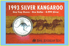1993 $1 Kangaroo Silver Frosted Uncirculated 1 oz. Coin