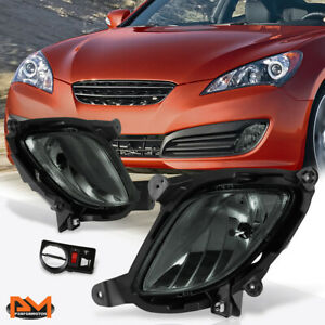 For 10-12 Hyundai Genesis Coupe Smoked Lens Front Bumper Fog Light/Lamp W/Switch