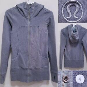 Lululemon Scuba Gray Zipper Sweater Size 4 XS Hoodie Athletic