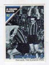 figurina card - CALCIATORI INTER MASTER CARDS  - numero 82 INTER-BOLOGNA 1-0