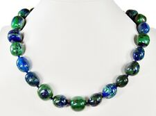 Gorgeous precious stone necklace in azurit-malach Fan It in Free-form