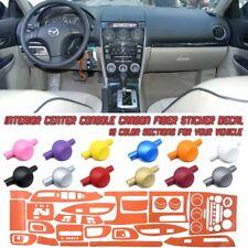 5D Carbon Fiber Vinyl Film Interior Center Console Sticker For Mazda 6 03-05