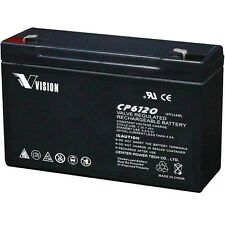 Vision CP6120 6V 12Ah AGM 5Yrs Service Life Sealed Lead Acid Battery