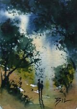 ACEO Original Miniature Painting by Bill Lupton - Love's Light