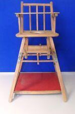 Alter Kinderhochstuhl, Kinderstuhl mit Spieltisch aus Holz