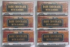NEW 18 Trader Joes Dark Chocolate ALMOND Candy Bars NO ARTIFICIAL COLORS/FLAVORS