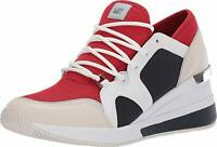 MICHAEL Michael Kors Liv Trainer Bright Red Multi 10, Red, Size 5.5
