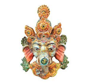 Collectible Antique Resin God ganesha mask wall mask wall hanging Wall sculpture
