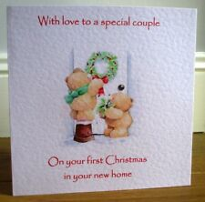 Cute Bears 1st First Christmas In Your New Home Personalised Christmas Card