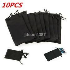 10PC Soft Microfiber Pouch Bag For Sunglasses Eyeglasses Glasses W/Lanyard Cloth