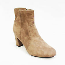 Block Heel Suede Patternless Heels for Women